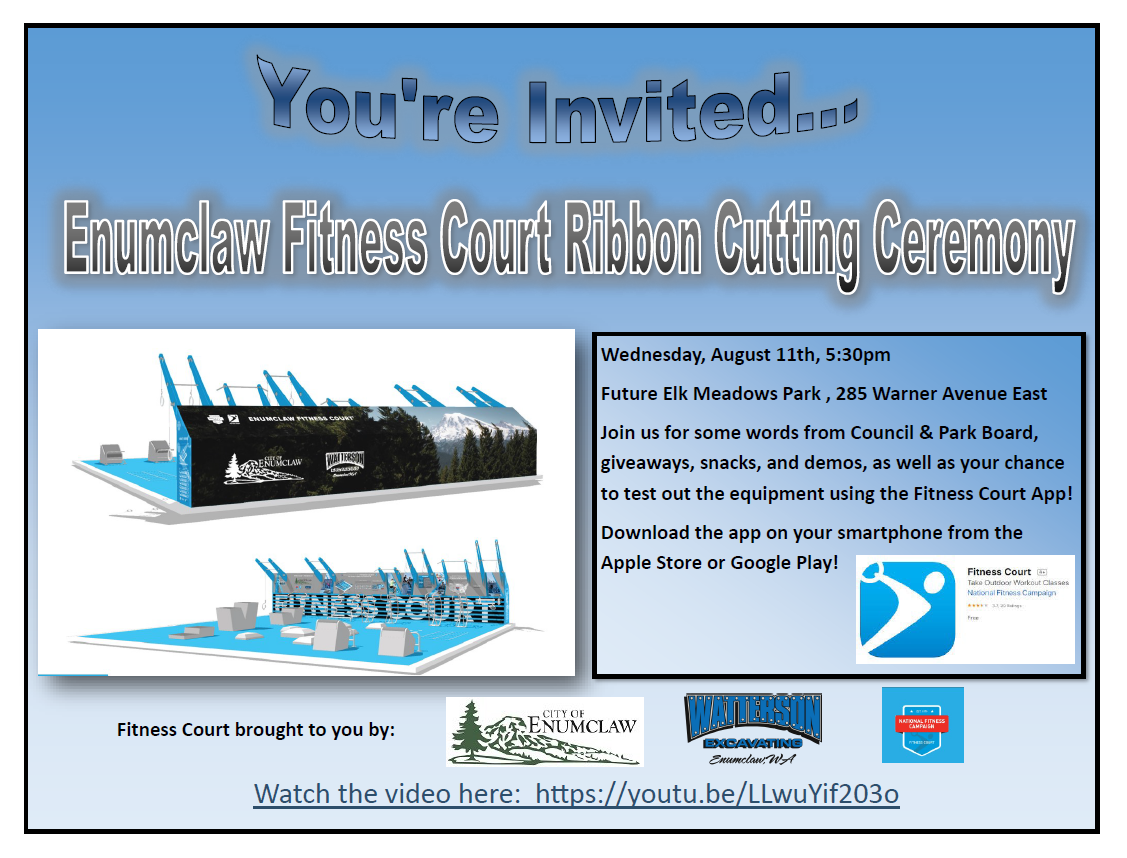 Flyer for ribbon-cutting ceremony