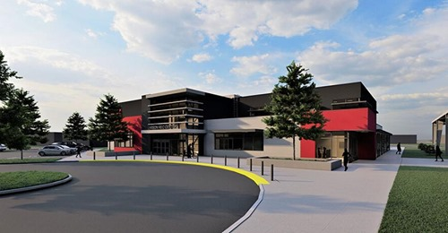 Graphic Render of the New Larson Recreation Center